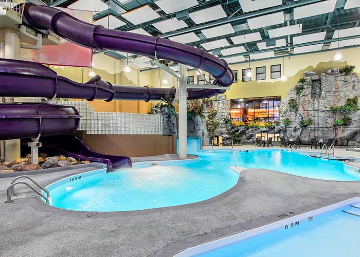 Get splashing with Manitoba's longest indoor water slide.